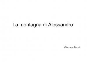 01 La montagna di Alessandro